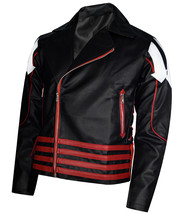 Men's Freddie Mercury Concert Black and Red Faux Leather jacket - $65.00+