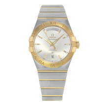 Omega Constellation Day-Date Steel 18K Yellow Gold Men Watch 123.20.38.2... - $5,999.00