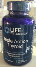 Life Extension Triple Action Thyroid 60 Capsules - $51.29