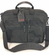 Tumi Black Ballistic Nylon Overnighter Briefcase 2671D3 Luggage Tag & Strap - $161.70