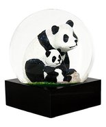 Ebros Mountain Giant Panda with Cub Glitter Water Globe Collectible Figu... - $23.75