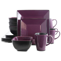 Elama Mulberry Loft 16 Piece Modern Premium Stoneware Dinnerware Set wit... - $75.60