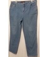Women's Sz 18 W Average Gloria Vanderbilt Blue Jeans - $23.22