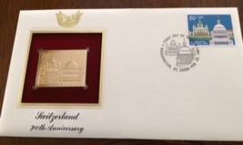 Switzerland 700th Anniversary First Day Gold Stamp Issue Feb. 22, 1991  - $4.50