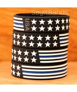 "BOLD XL 9"" Wristbands Wider Flag Thin Blue Line Bracelet USA Design Brac... - £4.24 GBP+"