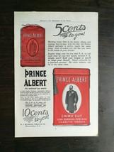 Vintage 1912 Prince Albert Crimp Cut Tabacco Full Page Original Ad - $6.64
