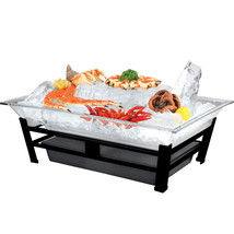 24W x 48D x 10H Large Ultimate Ice Housing Display Black - $2,336.59