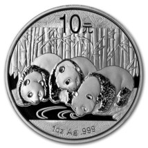 China 2013 Silver Chinese Panda - 1 oz Silver Proof in Plastic Hardshell... - $29.95