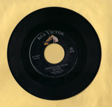 45 RPM RCA Victor. Record -- George Beverly Shea, FACE TO FACE & SOMEWHERE - $6.50