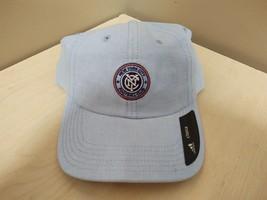 New Adidas New York City Fc Soccer Hat Adjustable Blue QE89Z - $9.50