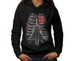 Straight To My Heart Sweatshirt Hoody Rib Cage Women Hoodie