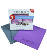 Screen Joy Microfiber Cloths - Excellent for all screens and lenses - 3 ... - $8.99