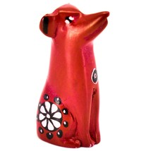 Vaneal Group Hand Carved Kisii Soapstone Red Puppy Dog Miniature Figurine
