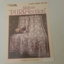 Afghan PURR-fection Leisure Arts 2891 10 Afghan patterns - $9.48
