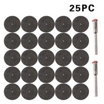 25pcs Fiberglass Reinforced Cut Off Wheel Disc 2 Mandrel For Dremel  Rotary Tool - $5.81