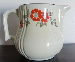 VINTAGE, HALL'S SUPERIOR QUALITY KITCHENWARE, RED POPPY PITCHER, MADE IN... - $40.50