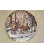 AFTERNOON ALERT collector plate BRUCE MILLER Wildlife DEER Friends of th... - $19.99