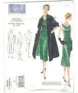Vogue Vintage 1137 Coat & Slim Dress 1950 Reissue Size 8 10 12 14  Pattern Uncut - $12.73
