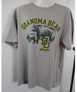Champion Sz L Gray BU BAYLOR UNIVERSITY Grandma Bear Short Sleeve T Shir... - $2.48