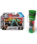Jurassic World Protoceratops and Set of 12 Mini Dinosaurs Figures. - $21.99
