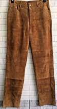 Men's New Western Brown Goat Suede Leather Cowboy Pant WP29 image 2