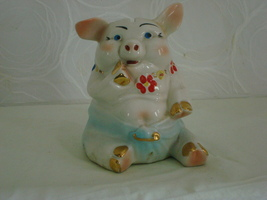 Baby With a Safety Pin In Diaper Piggy Bank - $20.00