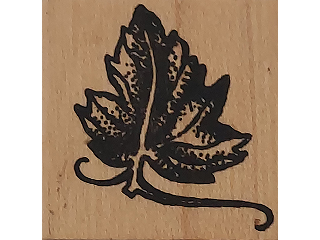 Worth Repeating Small Leaf Wood Mounted Rubber Stamp
