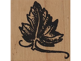 Worth Repeating Small Leaf Wood Mounted Rubber Stamp image 1