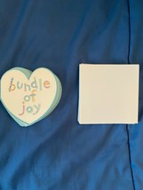 """6 Loose Baby Gift 3"""" Blank Cards w/6 Envelopes (HEARTS) *NEW* ff1 - $7.99"""