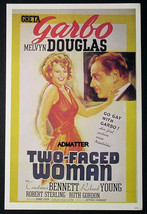 TWO-FACED WOMAN GRETA GARBO /SON OF FURY GENE TIERNEY 2-SIDED MOVIE AD P... - $16.39