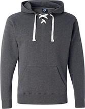 Charcoal Hockey Hood Sweatshirt: 80% Ringspun Cotton, 20% Polyester Flee... - $24.90
