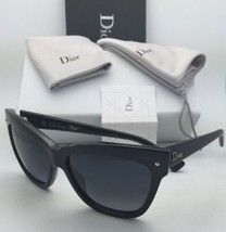 New CHRISTIAN DIOR Sunglasses DIORJUPON2 807HD 55-15 Black Frame w/ Grey Lenses