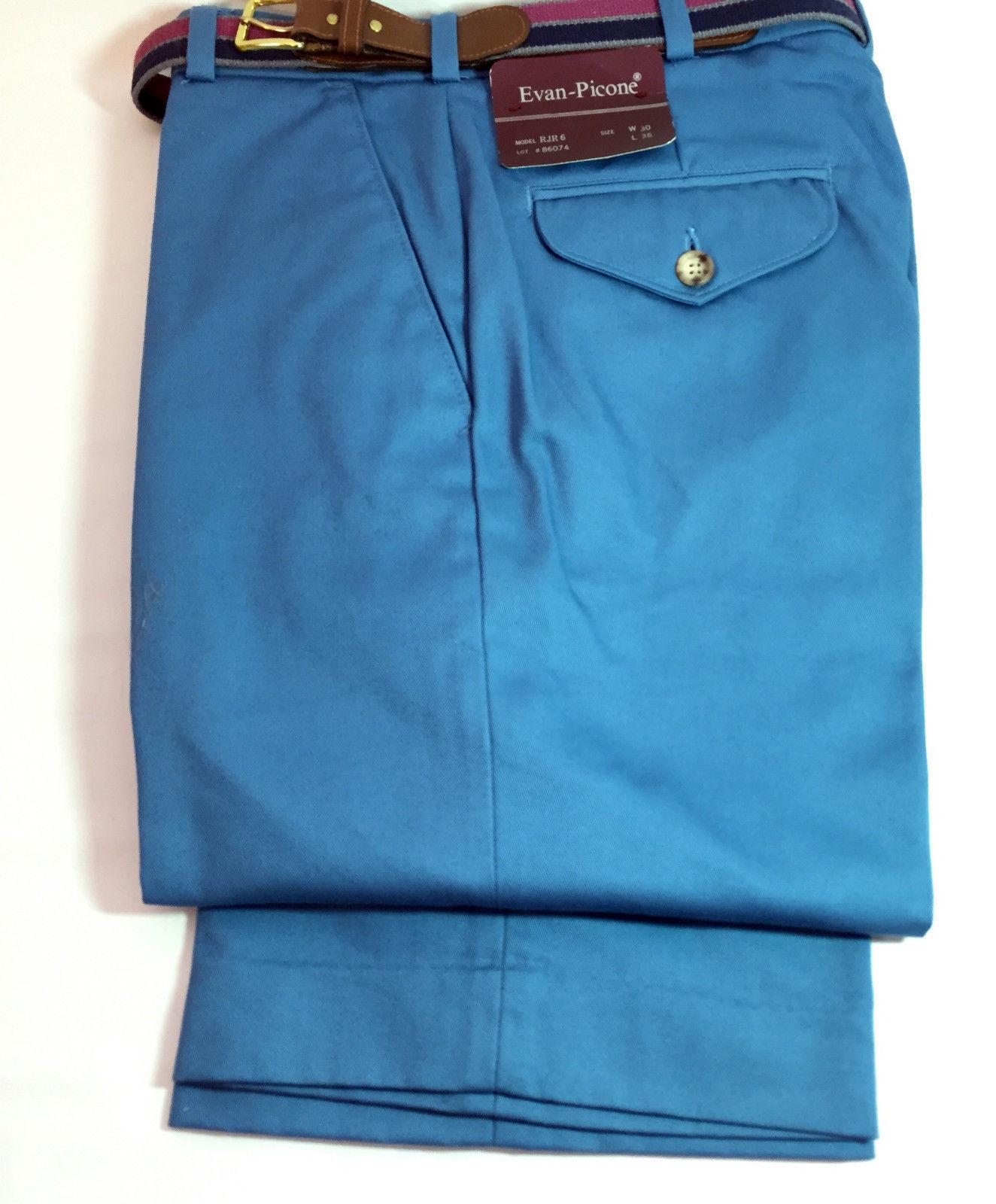 Vintage 1970s Mens Evan Picone Cornflower Blue colored ...