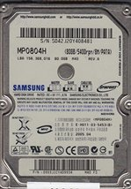 MP0804H, MP0804H, M40 FS, Samsung 80GB IDE 2.5 Hard Drive