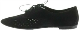 Isaac Mizrahi Perforated Leather Suede Oxfords Black 8.5M NEW A273204 - $117.04 CAD