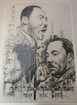 Martin Luther King, Jr. & Coretta Scott King Print by Alemayhou Gabremedhin - $100.00