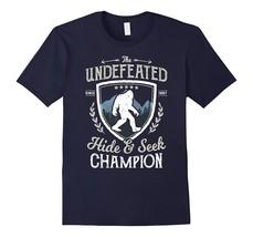 Cool Shirt -Bigfoot Undefeated Hide and Seek Champion T Shirt Sasquatch Men - $19.95+