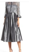 Eliza J Mixed Lace & Taffeta Fit & Flare Dress Sz 4 - $59.39