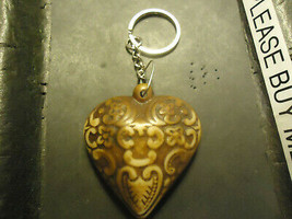 DECORATIVE ETCHED HEART KEYCHAIN   (14537)   >> C/S & H AVAILABLE  - $4.95