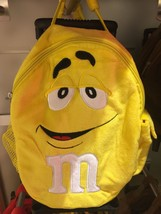 M&M's World Yellow Character Plush Backpack Trolley For Child New with Tags - $36.66