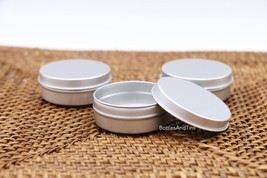 100 ps Cosmetic Cream Make Up Lip Jar Tin Container SLIP 1/2oz  storage ... - $32.68