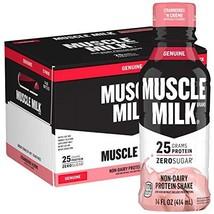 Muscle Milk Genuine Protein Shake, Strawberries 'N Crème, 25g Protein, 14 Fl Oz,