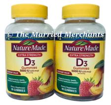 (2) Nature Made Extra Strength Vitamin D3 Gummies 5000 IU 90 each 7/2022 FRESH! - $23.99