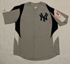 90s Majestic MLB New York NY Yankees Grey Baseball Jersey Blank size L V... - $28.76