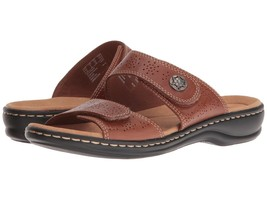 New Clarks Women Leisa Lacole Leather Slide Sandal Variety Color&Sizes - $59.39