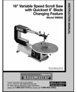 "Delta 16"" Variable Speed Scroll Saw Instruction Manual Model SM600 - $10.88"