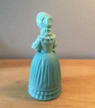 70s Avon Victorian Fashion Figurine teal woman perfume bottle (Charisma) image 2