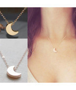 Crescent Moon Necklace (Available in Gold & Silver) - $14.00