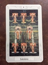 Aleister Crowley Thoth Tarot Small Deck Indolence INDIVIDUAL CARD Magik - $1.98