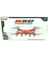 Syma X5C Upgraded Version Red Quadcopter Drone with HD Camera 2.4G 4CH 6... - $59.83
